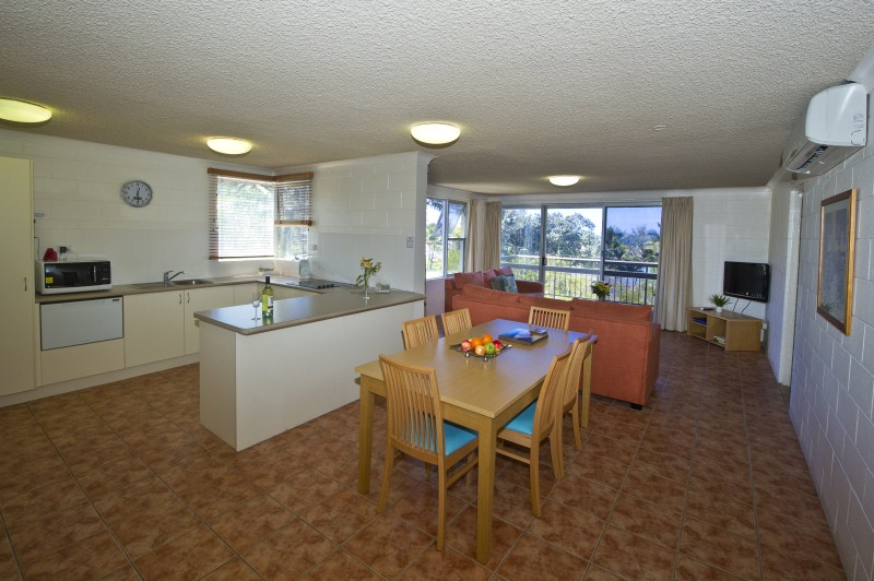 Dining - kitchen - living area even numbered apartments